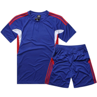 AD-501 Customize Team Blue Soccer Jersey Kit(Shirt+Short)