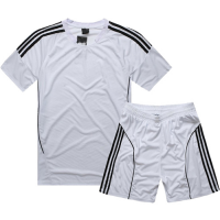 AD-503 Customize Team White Soccer Jersey Kit(Shirt+Short)