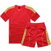 AD-503 Customize Team Red Soccer Jersey Kit(Shirt+Short)