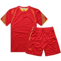 NK-505 Customize Team Red Soccer Jersey Kit(Shirt+Short)