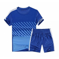 NK-509 Customize Team Blue Soccer Jersey Kit(Shirt+Short)