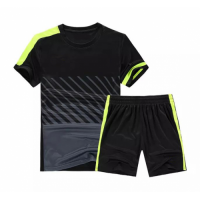 NK-509 Customize Team Black Soccer Jersey Kit(Shirt+Short)