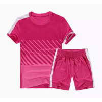 NK-509 Customize Team Pink Soccer Jersey Kit(Shirt+Short)