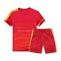 NK-509 Customize Team Red Soccer Jersey Kit(Shirt+Short)