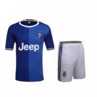 Juventus Away Blue Jersey Kit(Shirt+Shorts) 2016-2017 Without Brand Logo