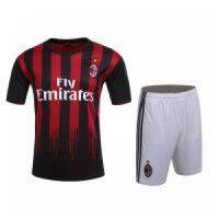 AC Milan Home Jersey Kit(Shirt+Shorts) 2016-2017 Without Brand Logo