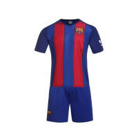 Barcelona Home Jersey Kit(Shirt+Shorts) 2016-2017 Without Brand Logo