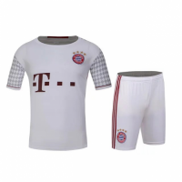 Bayren Munich Away White Jersey Kit(Shirt+Shorts) 2016-2017 Without Brand Logo