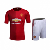 Manchester United Home Red Jersey Kit(Shirt+Shorts) 2016-2017 Without Brand Logo
