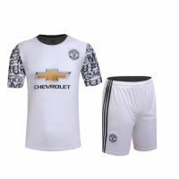 Manchester United Away White Jersey Kit(Shirt+Shorts) 2016-2017 Without Brand Logo