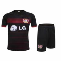 Bayer 04 Leverkusen Home Black Jersey Kit(Shirt+Shorts) 2016-2017 Without Brand Logo