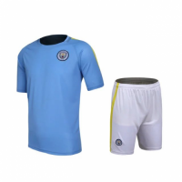 Manchester City Home Jersey Kit(Shirt+Shorts) 2016-2017 Without Brand Logo