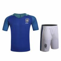 Brazil Away Blue Jersey Kit(Shirt+Shorts) 2016 Without Brand Logo