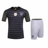 Germany Away Black&Grey Jersey Kit(Shirt+Shorts) 2016 Without Brand Logo