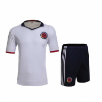 Colombia Home White Jersey Kit(Shirt+Shorts) 2016 Without Brand Logo