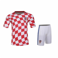 Croatia Home Red Jersey Kit(Shirt+Shorts) 2016 Without Brand Logo