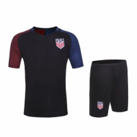 USA Away Black Jersey Kit(Shirt+Shorts) 2016 Without Brand Logo