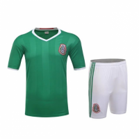 Mexico Home Green Jersey Kit(Shirt+Shorts) 2016 Without Brand Logo