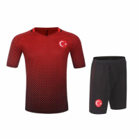 Turkey Home Red Jersey Kit(Shirt+Shorts) 2016 Without Brand Logo