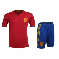Spain Home Red Jersey Kit(Shirt+Shorts) 2016 Without Brand Logo