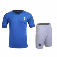 Italy Home Blue Jersey Kit(Shirt+Shorts) 2016 Without Brand Logo