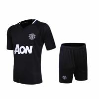 Manchester United Black Training Kit(Shirt+Shorts) 2016-2017 Without Brand Logo