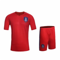 South Korea Home Red Jersey Kit(Shirt+Shorts)2016 Without Brand Logo