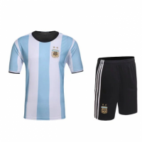 Argentina Home Jersey Kit(Shirt+Shorts)2016 Without Brand Logo