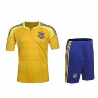 Ukraine Home Yellow Jersey Kit(Shirt+Shorts)2016 Without Brand Logo