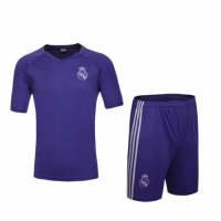 Real Madrid Purple Training Kit(Shirt+Shorts) 2016-2017 Without Brand Logo