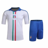 Italy Away White Jersey Kit(Shirt+Shorts) 2016 Without Brand Logo