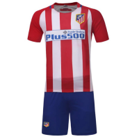 Atletico Madrid Home Jersey Kit(Shirt+Shorts) 2016-2017 Without Brand Logo