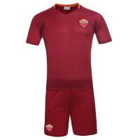 Roma Home Red Soccer Jersey Kit(Shirt+Shorts) 2016-2017 Without Brand Logo