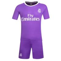 Real Madrid Away Purple Jersey Kit(Shirt+Shorts) 2016-2017 Without Brand Logo