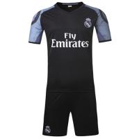 Real Madrid Away Black Jersey Kit(Shirt+Shorts) 2016-2017 Without Brand Logo