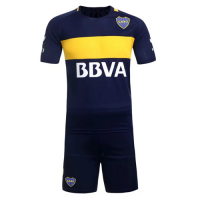 Boca Juniors Home Navy Jersey Kit(Without Logo) 2016-2017 Without Brand Logo