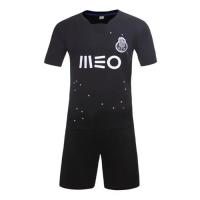 Porto Away Black Soccer Jersey Kit(Without Logo) 2016-2017 Without Brand Logo
