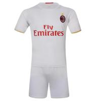 AC Milan Away White Jersey Kit(Shirt+Shorts) 2016-2017 Without Brand Logo