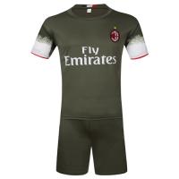 AC Milan Away Dark Green Jersey Kit(Shirt+Shorts) 2016-2017 Without Brand Logo