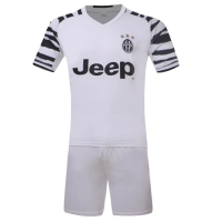 Juventus Away White Jersey Kit(Shirt+Shorts) 2016-2017 Without Brand Logo