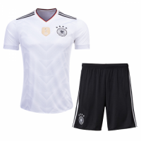 Germany Home White Jersey Kit(Shirt+Shorts) 2017 Without Brand Logo