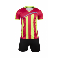 1603 Customize Team Red&Yellow Soccer Jersey Kit(Shirt+Short)