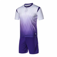 1604 Customize Team White&Purple Soccer Jersey Kit(Shirt+Short)