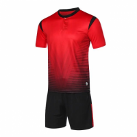 1604 Customize Team Red Soccer Jersey Kit(Shirt+Short)