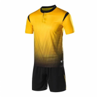 1604 Customize Team Yellow Soccer Jersey Kit(Shirt+Short)