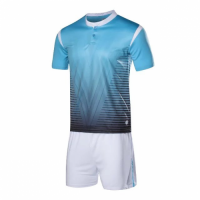 1604 Customize Team Sky Blue Soccer Jersey Kit(Shirt+Short)