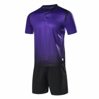 1604 Customize Team Purple Soccer Jersey Kit(Shirt+Short)