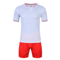 1605 Customize Team White Soccer Jersey Kit(Shirt+Short)