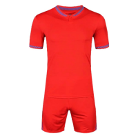 1605 Customize Team Red Soccer Jersey Kit(Shirt+Short)