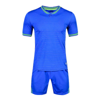 1605 Customize Team Blue Soccer Jersey Kit(Shirt+Short)